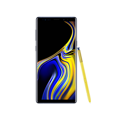 Galaxy Note9 Front Ocean Blue Image